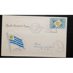 A) 1977, URUGUAY, HORSES, FDC, EASTERN REPUBLIC OF URUGUAY, POSTA TRINIDAD PEACH, DAY OF THE STAMP