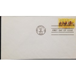 A) 1974, UNITED STATES, HORSE, FDC, I CENTENARY OF THE KENTUCKY DERBY
