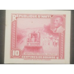 L) 1953 HAITI, ABN DIE PROOFS, AMERICAN BANK NOTE, ROAD CONSTRUCTION, RAILWAY, PRESIDENT MAGLOIRE