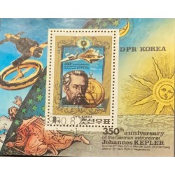 L) 1980 KOREA, 350th ANNIVERSARY OF THE GERMAN ASTRONOMER JOHANNES KEPLER, SPACE, SUN, STAR, SATELITE, MNH