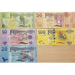 C) FIJI BANK NOTES SET 5 PCS UNC ND 2013