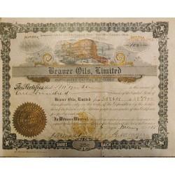 J) 1915 CANADA, DOCUMENT, STOCK BOND, XF