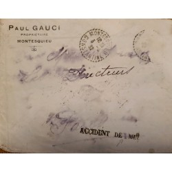 J) 1932 TURCKEY, WRECK MAIL RECOVERY, CIRCULATED COVER, FROM CONSTANTINOPLA TO PARIS