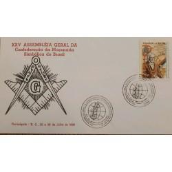 A) 1996, BRAZIL, FREEMASONRY, XXV GENERAL ASSEMBLY OF THE CONFEDERATION OF SYMBOLIC MASONRY OF BRAZIL