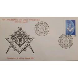 A) 1987, BRAZIL, FREEMASONRY, 10 ANNIVERSARIES OF THE MASONIC LODGE, ECT