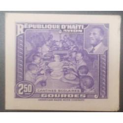 L) 1933 HAITI, SCHOOL CANTINES, PRESIDENT MAGLOIRE, DIE PROOFS, AMERICAN BANK NOTE, CARDBOARD