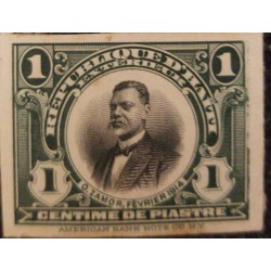 A) 1915, HAITI, ORESTE ZAMOR, DIE PROOF, AMERICAN BANK NOTE