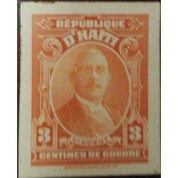 A) 1933, HAITI, NATIONAL REASONS, DIE PROOF, STENIO JOSEPH, VINCENT, ORANGE, AMERICAN BANK NOTE
