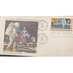 L) 1969 UNITED STATES, FIRST MAN ON THE MOON, ASTRONOMY, ASTRONAUT, SPACE, NASA, FDC
