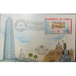 A) 1962, SPANISH ANTILLES, WORLD PHILATELIC EXHIBITION PRAGUE, SOUVENIR