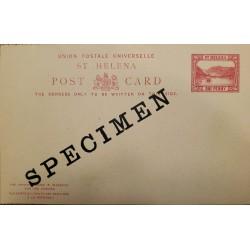 J) 1934 ST HELENA, SPECIMEN, UNIVERDAL POSTAL UNION, LANDSCAPE, POSTCARD, XF