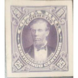A) 1909, COSTA RICA, PERSON, DIE PROOF, AMERICAN BANK NOTE, EUSEBIO FIGUEROA OREAMUNO