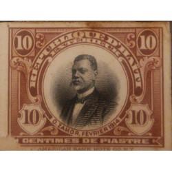 A) 1914, HAITI, ORESTE ZAMOR, LITTLE THIN ON LOWER LEFT, DIE PROOF, AMERICAN BANK NOTE