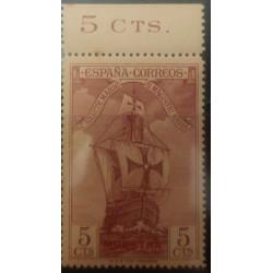 A) 1930, SPAIN, CARAVEL, SANTA MARIA, SPECIMEN, MINT, DISCOVERY OF AMERICA