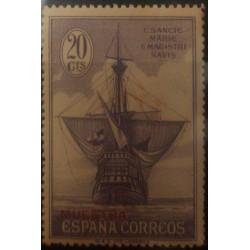 A) 1930, SPAIN, SPECIMEN, CARAVEL, SANTA MARIA, LANDING OF COLON