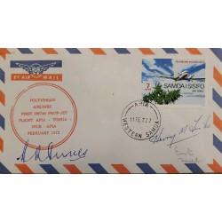 J) 1972 SAMOA, AIRPLANE, AIRMAIL, CIRCULATED COVER, FROM SAMOA XF