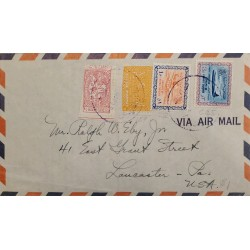 J) 1970 SAUDI ARABIA, BOEING JET, MULTIPLE STAMPS, AIRMAIL, CIRCULATED COVER, FROM SAUDI ARABIA TO USA