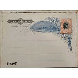 A) 1894, BRAZIL, POSTAL STATIONARY, SEAL OF LIBERTY