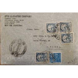 J) 1934 MEXICO, METERSTAMPS, REGISTERED AND CERTIFICATED, OPEN BY EXAMINER, AIRMAIL