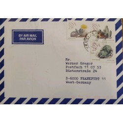J) 1988 UNITED STATES, PLANTS, CACTUS, MULTIPLE STAMPS, AIRMAIL, CIRCULATED COVER, FROM USA TO FRANKFURT