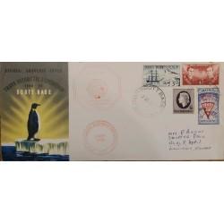 J) 1959 NEW ZELAND, ROSS DEPENDENCY, TRANS ANTARTIC EXPEDITION, BOAT, PENGUIN, ANTARTIC, MULTIPLE STAMPS