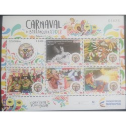 A) 2018, COLOMBIA, BARRANQUILLA CARNIVAL, LOGO, FIRST QUEEN