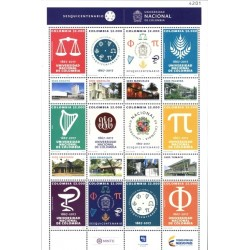 A) 2017, COLOMBIA, EDUCATION, SESQUICENTENNIAL OF THE NATIONAL UNIVERSITY OF COLOMBIA, SHEET OF 12