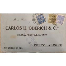 A) 1900, BRAZIL, FROM RIO DE JANEIRO TO RIO GRANDE OF SOUTH – PORTO ALEGRE, POSTAL AIR SERVICE AND COMMERCE STAMPS