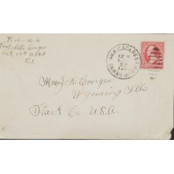 J) 1922 PHILIPPINES ISLAND, US OCCUPATION IN PHILIPPINES VA EN US POSSESSIONS, CIRCULATED CPVER, FROM PHILIPPINES TO USA
