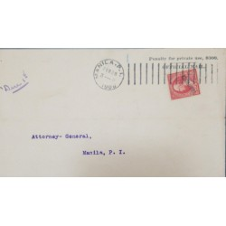 J) 1906 PHILIPPINES, PENALTY MAIL US OCCUPATION IN PHILIPPINES VERY LATE USAGE