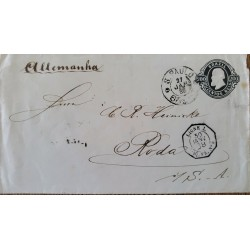 A) 1888, BRAZIL, POSTAL STATIONARY, FROM SAO PAULO TO LIGNE-GERMANY