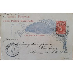 A) 1895, BRAZIL, POSTAL STATIONARY, FROM TO RIO DE JANEIRO TO HAMBURG – GERMANY, LIBERTY STAMP