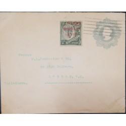 J) 1910 ISLA DE JUAN FERNANDEZ, POSTAL STATIONARY, CIRCULATED COVER, FROM ISLA TO LONDON
