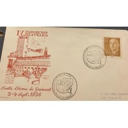 A) 1956, SPAIN, PHILATELIC EXPOSURE, SANTA COLOMA DE GRAMANET