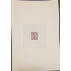 A) 1934, COLOMBIA, COFFEE PICKING, THE LARGE FORMAT SUNKEN DIE PROOF BY THE AMERICAN BANKNOTE