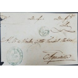 J) 1866 PUERTO RICO, OFFICIAL MAIL, CIRCULATED COVER, FROM PUERTO RICO TO AGUADILLA