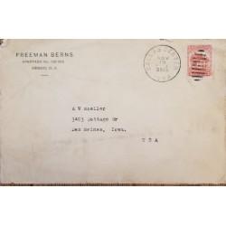 J) 1930 MEXICO, EL SALTO DE AGUA, PUBLIC FOUNTAIN, AIRMAIL, CIRCULATED COVER, FROM MEXICO TO USA