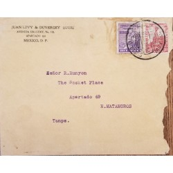 J) 1934 MEXICO, PROTECTION AGAINST CHILDREN, MOTHER AND CHILD, CUAUHTEMOC MONUMENT, AIRMAIL