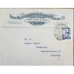 J) 1935 MEXICO, MORTGAGE BANK CREDIT MEXICAN TERRITORIAL SA, CUAUHTEMOC MONUMENT, AIRMAIL