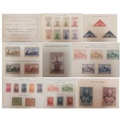 A) 1930, SPAIN, OVERPRINT SEVILLA, CARNET COLON, EDI:531HA-45HA