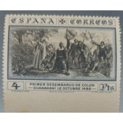 A) 1930, SPAIN, FIRST LANDING OF COLON, 4PTS, IMPERFORATE, EDI:544SM2, MNH