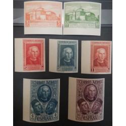 A) 1930, SPAIN, COLON, MONASTERY OF LA RABIDA, AERIAL, IMPERFORATE, EDI:5595-65S, MNH