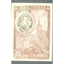 A) 1930, SPAIN, KINGS, 10 PTS, ENGRAVED, BICOLOR AND BLACK, NOT RECORDED