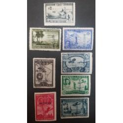 A) 1930, SPAIN, PRO IBEROAMERICANA SERIES, 8 VALUE, SPECIMEN, EDI:583M-91M, 256 EUROS