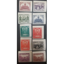 A) 1931, SPAIN, III CONGRESS OF THE PAN AMERICAN POSTAL UNION, MNH, EDI:604S-13S