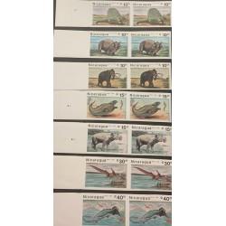 A) 1987, NICARAGUA, PREHISTORIC ANIMALS, AERIAL