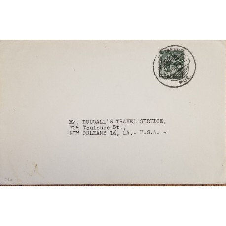 O) 1955 CARIBBEAN, STAMP AND CONVENT OF SAN FRANCISCO LILAC ROSE SCT 539-A192-QUEEN ISABELLA II.FDC XF