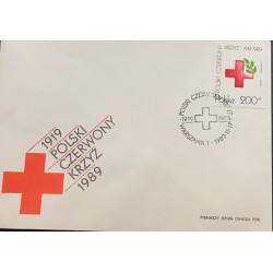 A) 1989, POLAND, POLISH RED CROSS, WARSAW, ANNIVERSARY NUMBER 70, FDC