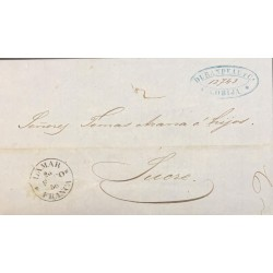 A) 1856, BOLIVIA, PRESTAMP, ENTIRE LETTER TO SUCRE CANCELED BY FEB 20 1856