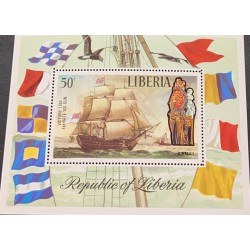 A) 1972, LIBERIA, OLD BOATS, AERIAL, VICTORY 1765, MNH